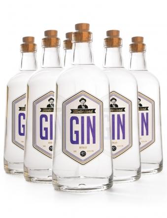 Hinterland Gin · 6 x 0,5 Liter